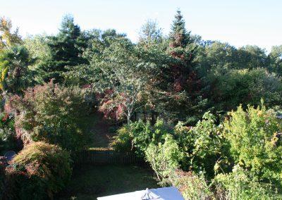 vue de la chambre côté jardin