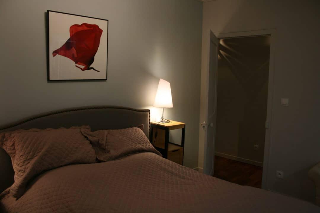 Chambre côté jardin, lit double