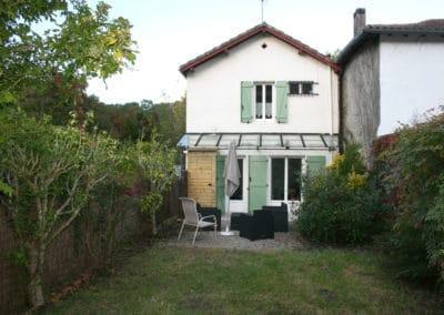 Green Cottage côté jardin